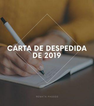 CARTA DE DESPEDIDA DE 2019